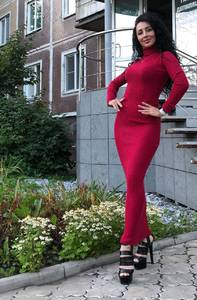 Платье длинное с длинными рукавами Ч9844