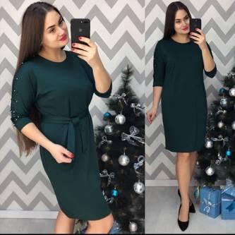 Платье короткое однотонное Ш4694