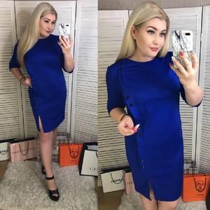 Платье короткое офисное Ш5545