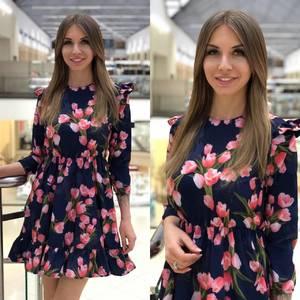Платье короткое с принтом Ю5574
