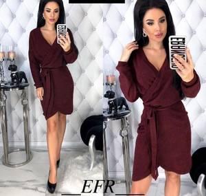 Платье короткое с длинным рукавом Я0140