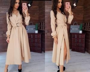 Платье длинное с разрезом на ноге Я0357