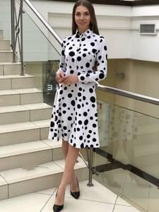 Платье короткое с длинным рукавом Я1404