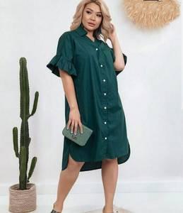 Платье короткое однотонное Я9657