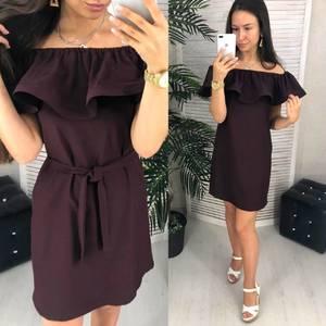 Платье короткое однотонное Ч9637