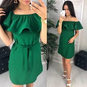 Платье короткое однотонное Ч9638