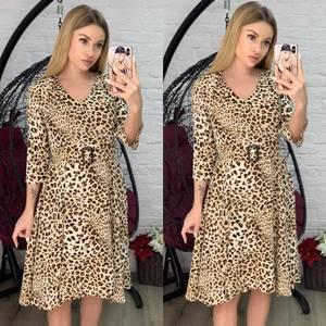 Платье короткое с рукавом 3/4 Я4171