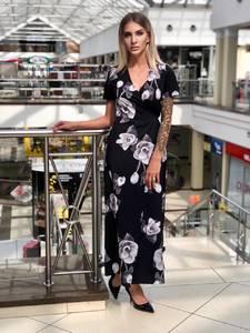 Платье длинное с принтом Ч2311