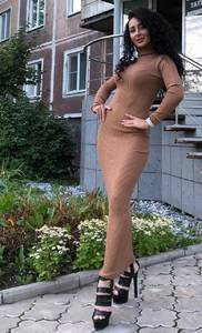 Платье длинное с длинными рукавами Ч9845