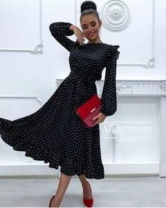 Платье длинное с длинными рукавами Ш6497