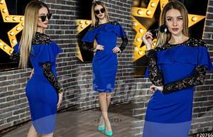 Платье короткое нарядное Ю4085