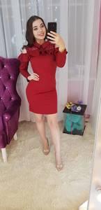 Платье короткое с длинным рукавом Ч0693