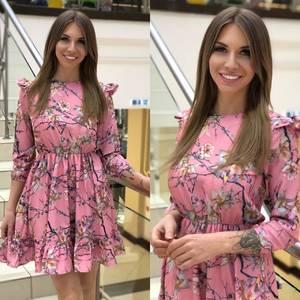 Платье короткое с принтом Ю5575