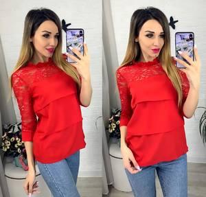 Блуза с коротким рукавом Я0634