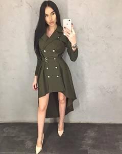 Платье короткое с длинным рукавом А09568