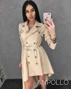 Платье короткое с длинным рукавом А09569