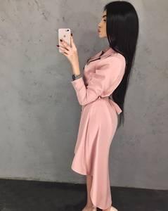 Платье короткое с длинным рукавом А09571