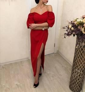 Платье длинное с разрезом на ноге Ш2146