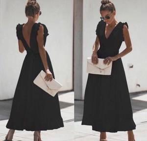Платье длинное однотонное Ш7851