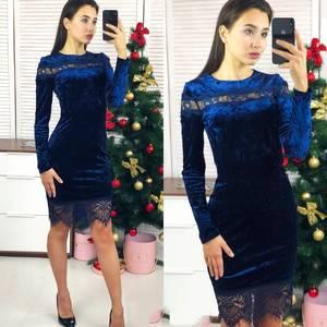 Платье короткое нарядное Ш8072