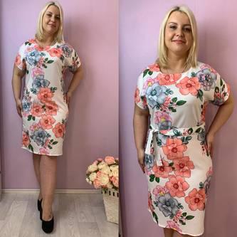 Платье короткое нарядное Ч0745