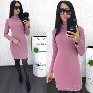 Платье короткое с длинным рукавом Ю4545