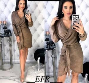 Платье короткое с длинным рукавом Я0142