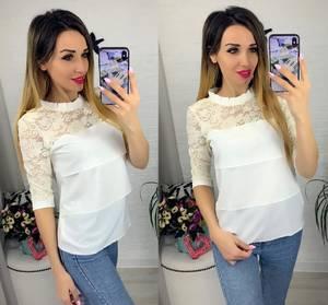 Блуза с коротким рукавом Я0635
