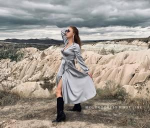 Платье длинное однотонное Я1917