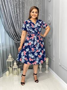 Платье короткое с принтом Я7971