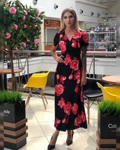Платье длинное с принтом Ч2312