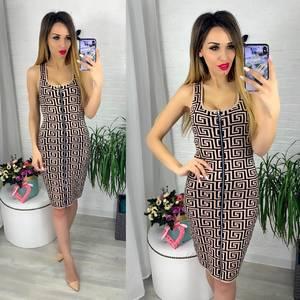 Платье короткое облегающее Ю6417