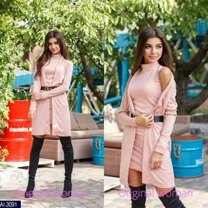 Платье Двойка короткое нарядное Ч3890