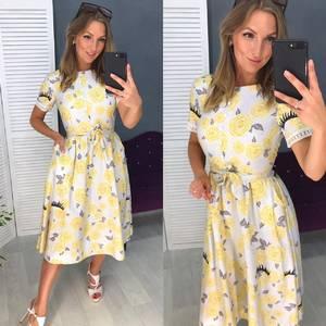 Платье короткое современное Ч4422