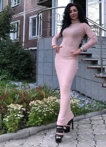 Платье длинное с длинными рукавами Ч9848