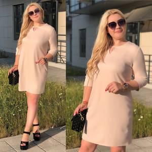 Платье короткое однотонное Ш0080