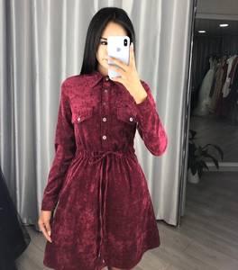 Платье короткое с длинным рукавом А09591