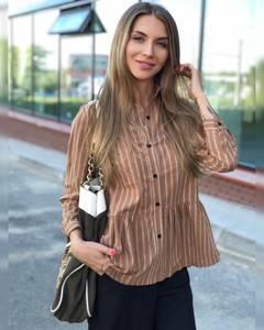 Рубашка в полоску Ч9517
