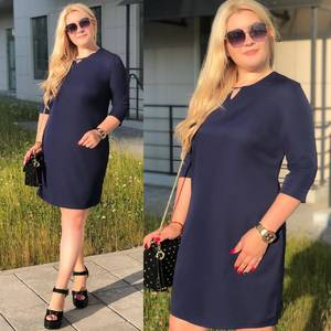 Платье короткое синее Ш0079