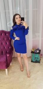 Платье короткое с длинным рукавом Ч0695