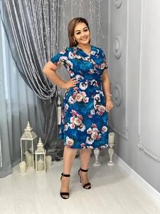Платье короткое с принтом Я7973