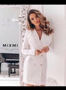 Платье короткое белое Ш7348