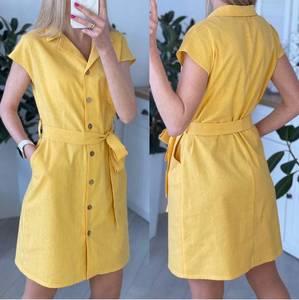 Платье короткое однотонное А44906