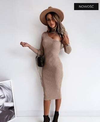 Платье короткое с длинным рукавом А56042