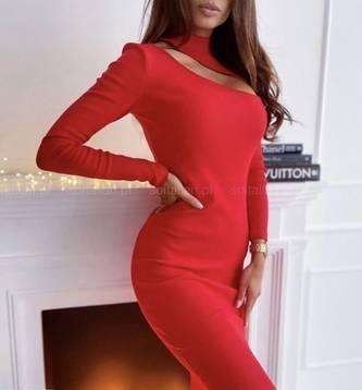 Платье короткое с длинным рукавом А56043