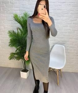 Платье короткое с длинным рукавом А56029