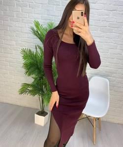 Платье короткое с длинным рукавом А56030