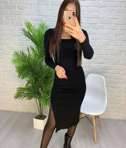 Платье короткое с длинным рукавом А56031