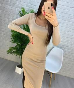 Платье короткое с длинным рукавом А56033