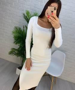 Платье короткое с длинным рукавом А56034